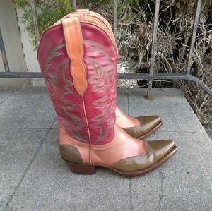 Old Gringo Tri Color Leather Boots